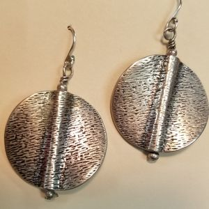 Silver Round Earrings_ Great Detail